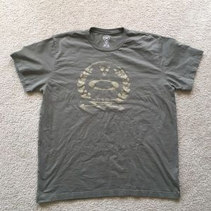 Oakley Graphic Olive Green Short Sleeve Tee-Shirt